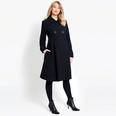 معطف أسود طويل