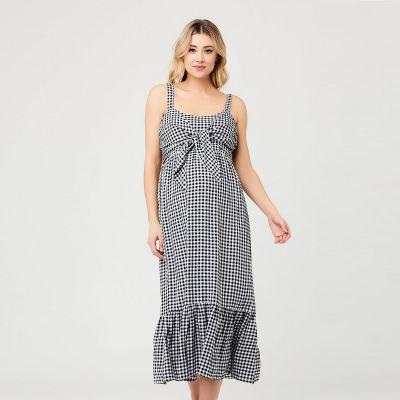 فستان غنغام الأسود