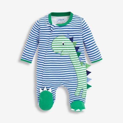 ملابس نوم الديناصور الأزرق