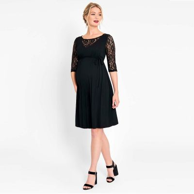 فستان دانتيل سوينغ الأسود