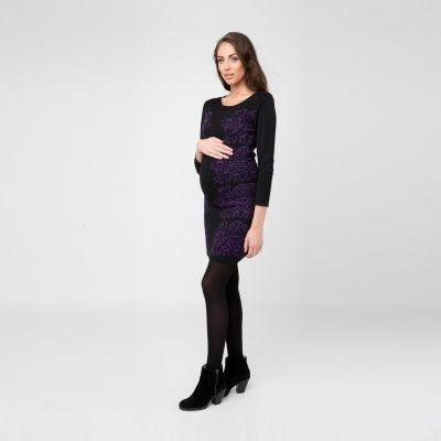 فستان جاكوارد البنفسجي