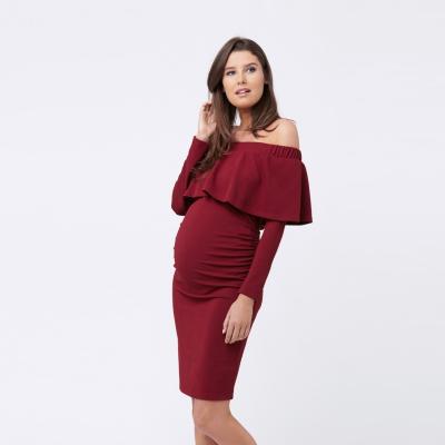 فستان سوارية خمري