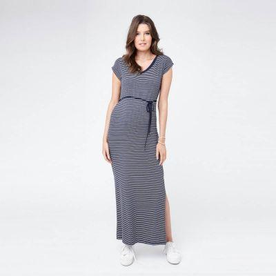 فستان ميغن ماكسي المخطط