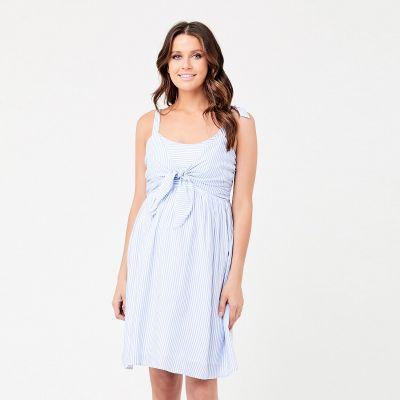 فستان سالي تاي فرونت الأزرق