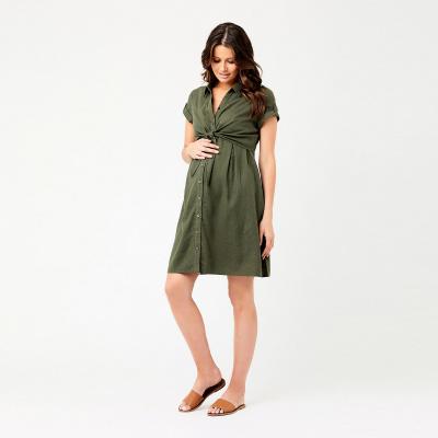 فستان كوليت تاي الزيتي