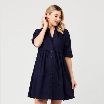 فستان باين بوبلاين الكحلي