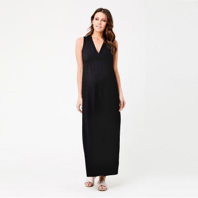 فستان فرتشوال ماكسي الأسود