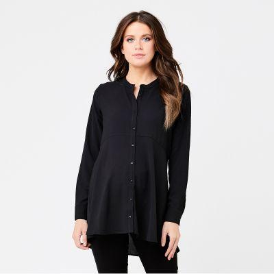 قميص بيبلوم الأسود