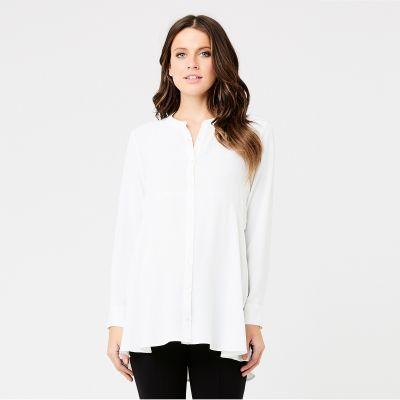 قميص بيبلوم الأبيض